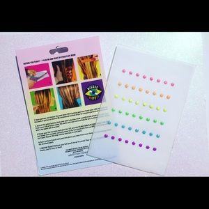 Rainbow Hair Jewels